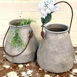 Pair of Vintage Milk Churns