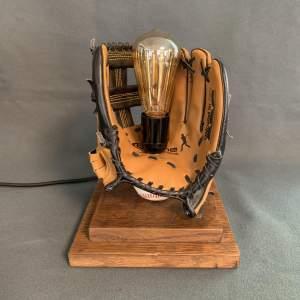 Baseball Glove and Ball Lamp