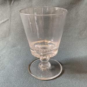 Early 19th Century Large Bucket Bowl Georgian Rummer Glass