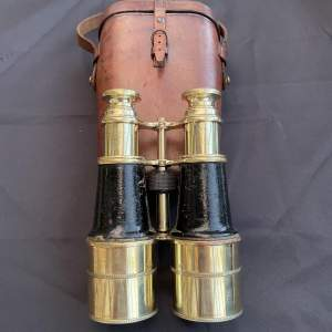 A Pair WW1 Officers Trench Binoculars and Case - Watson London