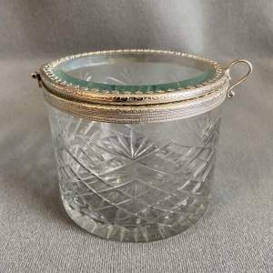 Cut Glass and Silver Plated Box