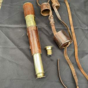 British Army Four Draw Telescope And Case 1914