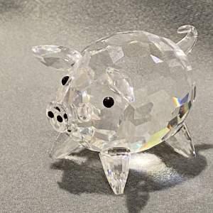 Swarovski Crystal Large Pig Figure