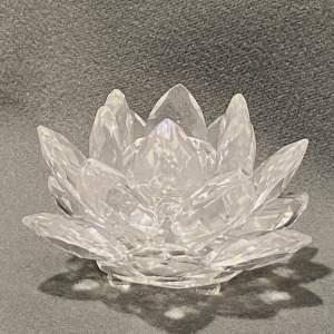 Swarovski Crystal Waterlily Candleholder