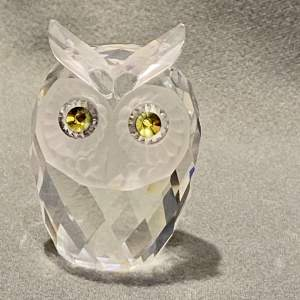 Swarovski Crystal Large Owl Figure
