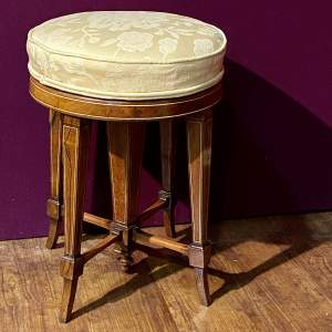 19th Century Jas Shoolbred Rosewood Piano Stool