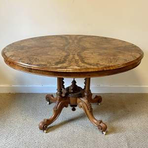 Victorian Walnut Marquetry Breakfast or Loo Table