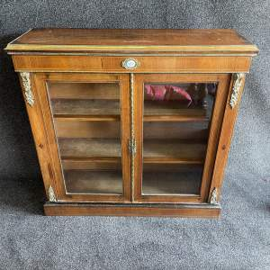 Fabulous 19th Century Walnut Pier Cabinet
