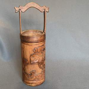 Japanese 19th Century Carved Wooden Bento Box