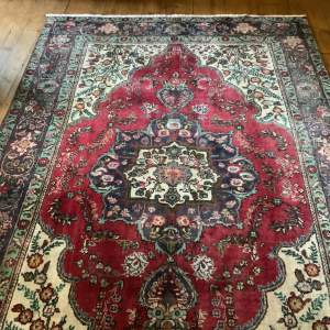 Superb Old Hand Knotted Persian Rug Tabriz Wonderful Colours