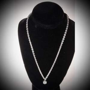 9ct Italian White Gold Diamond Necklace