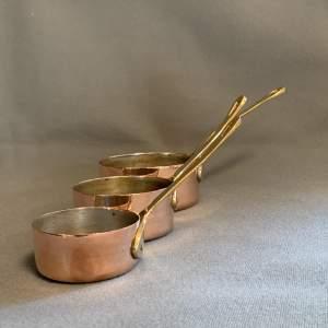 20th Century Set Of Six Copper Saucepans