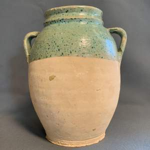 Green Speckled Turkish Terracotta Pot