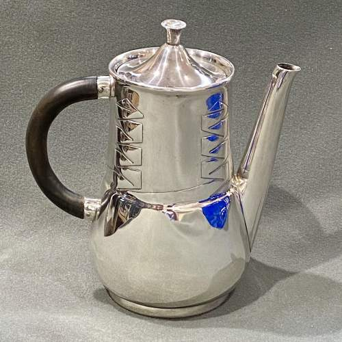 Archibald Knox Liberty and Co Silver Coffee Pot image-1