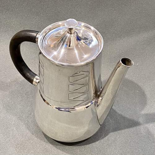 Archibald Knox Liberty and Co Silver Coffee Pot image-2