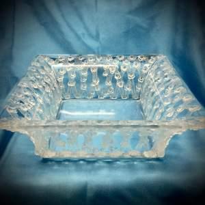 Lalique Glass Square Dish