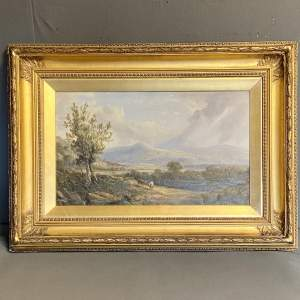 A Coleman 19th Century Oil on Canvas Painting of Ambleside