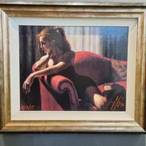 Fabian Perez Ltd Edition Artists Proof Print - Rojo Sillon III