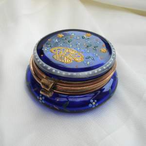Moser Royal Blue Glass Trinket Box