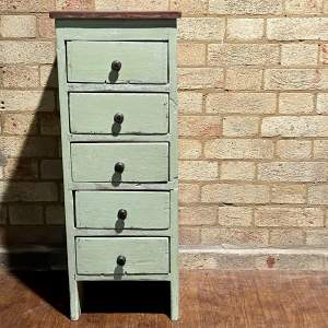 Small Vintage Set of Painted Wooden Drawers