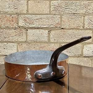 Vintage Copper Shallow Pan