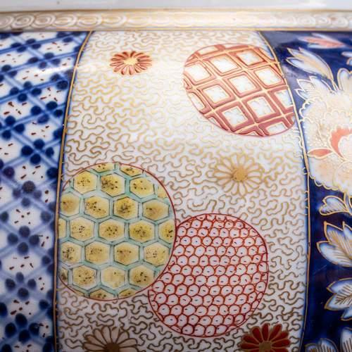 Fabulous Garniture of Three Large Antique Japanese Vases image-5