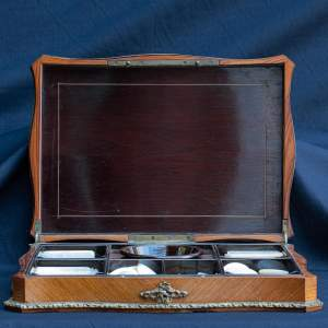 Antique French Kingwood Games Box and Counters