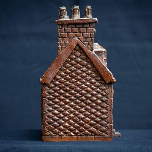 Rare Pair of English Antique Treacle Glazed Money Box Cottages image-3