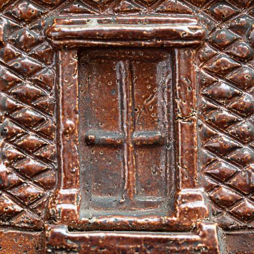 Rare Pair of English Antique Treacle Glazed Money Box Cottages image-5