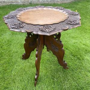 Carved  Burmese Small Table