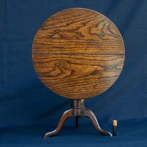 Antique Georgian Miniature Oak Folding Table