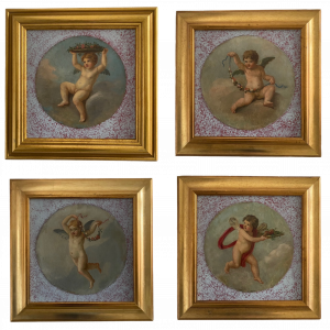 19th Century Italian School series of Four Roundels