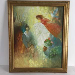 Late 20th Century Modern Oil Painting on Canvas - Signed and Dated
