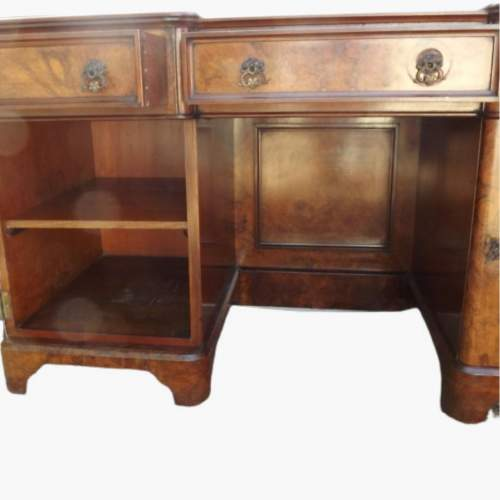 Victorian Burr Walnut Break Front Desk image-5