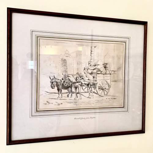 Evert Louis van Muyden Pencil Study 1899 image-1