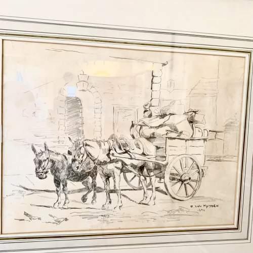 Evert Louis van Muyden Pencil Study 1899 image-2