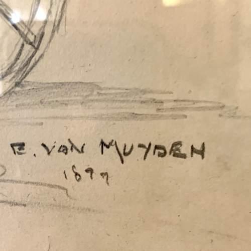 Evert Louis van Muyden Pencil Study 1899 image-5
