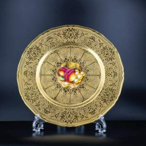 A Richly Gilded Royal Worcester Cabinet Plate