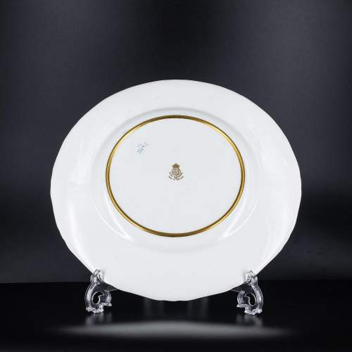 A Richly Gilded Royal Worcester Cabinet Plate image-5