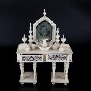 A Lovely Antique Miniature Bone Dressing Table