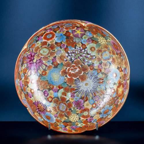 A Lovely Hand Painted Japanese Satsuma Bowl image-1