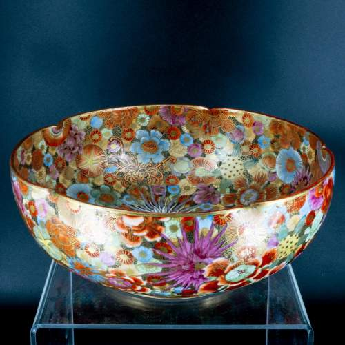 A Lovely Hand Painted Japanese Satsuma Bowl image-2