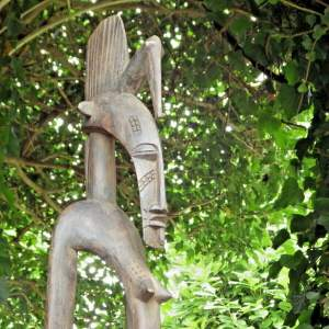 African Tribal Sculpure Tall Carved Wooden Tribal Art Figure