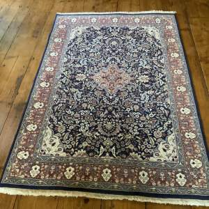 Old Hand Knotted Indian Rug Kashmir Qhum Superb Quality Piece