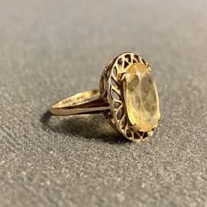 Vintage 9ct Gold Citrine Ring