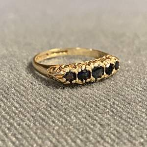 Vintage Five Stone Sapphire Ring