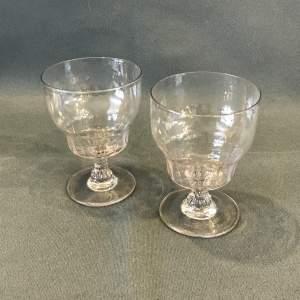 Pair of Regency Period Rummer Glasses