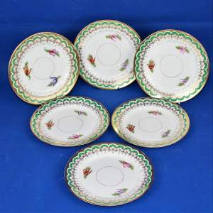 Set of Six Very Pretty Vintage Bread and Butter Tea Plates