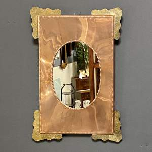 Arts and Crafts Copper and Brass Wall Mirror