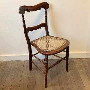 Victorian Mahogany Chair with Cane Seat